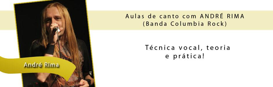 Aulas de canto com André Rima
